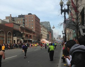 Explosion from Boston Marathon